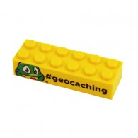 Signal The frog - Trackable LEGO Brick - Jaune