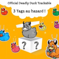Official Deadly Duck Trackable - 3 Tags