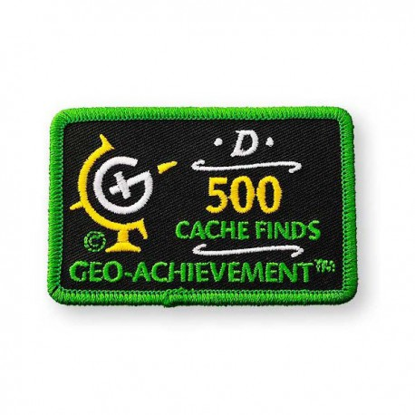 Patch Geo-Achievement® 500 Finds