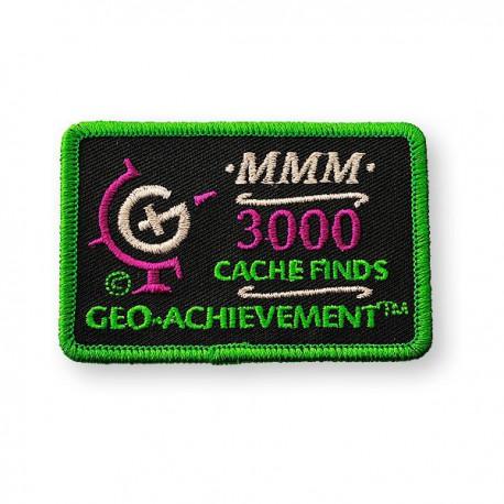 Patch Geo-Achievement® 3000 Finds