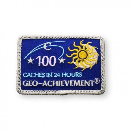 Patch Geo-Achievement® 24 Hours 100 Caches