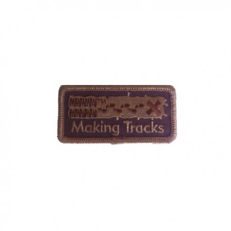 "Patch ""Making Tracks"" - Marron"