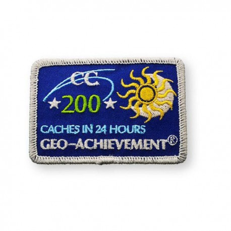 Patch Geo-Achievement® 24 Hours 200 Caches
