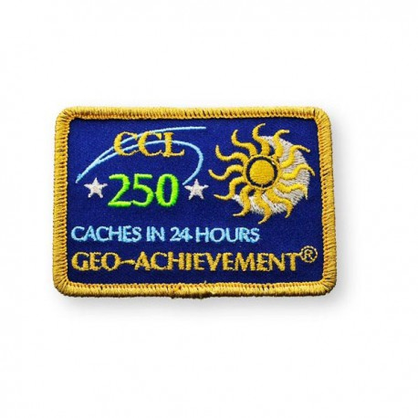 Patch Geo-Achievement® 24 Hours 250 Caches