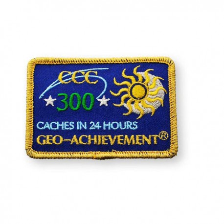 Patch Geo-Achievement® 24 Hours 300 Caches