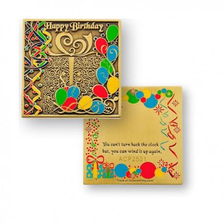 """Géocoin """"Happy Birthday"""""""