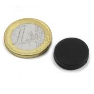 Magnets Disque 17 mm caoutchouté - Lot de 2
