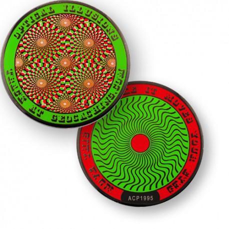 Géocoin Illusions d'optique - Vert