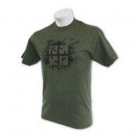"T-shirt ""Cache Attack"" - Vert camouflage - Taille M"