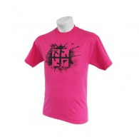 "T-shirt ""Cache Attack"" - Rose - Taille M"