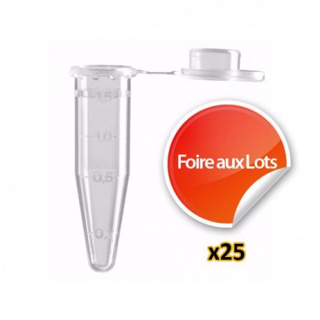 Nano Tube 1,5ml - Lot de 25