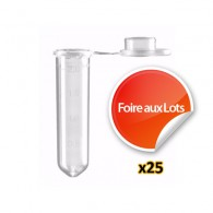 Nano Tube 2ml à fond rond - Lot de 25