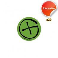 Stickers Geocaching Ronds - Lot de 20