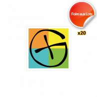 Stickers Logo Geocaching - Lot de 20