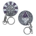 """Géocoin porte-clés """"ROT 13"""" - Antique Silver"""