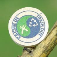 Géocoin en bois - CITO