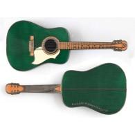 Géocoin Guitare Acoustique - Vert