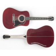 Géocoin Guitare Acoustique - Rouge