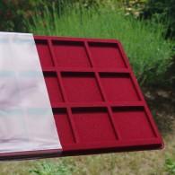 Plateau de présentation pour 15 géocoins - carrés 55mm