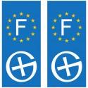 Logo Geocaching - Sticker pour plaque d'immatriculation x2