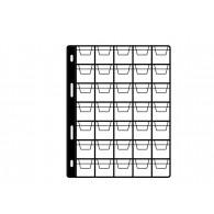 Feuille pour album taille M - 35 pochettes 27x27mm