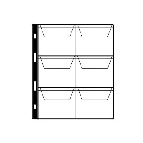 Feuille pour album taille M - 6 pochettes 65x70mm