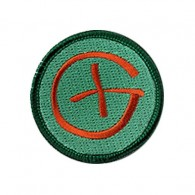 Patch Geocaching Rond - Orange