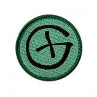 Patch Geocaching Rond - Noir