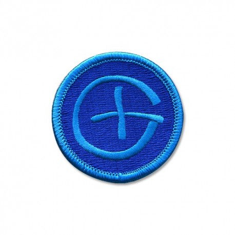 Patch Geocaching Rond - Bleu