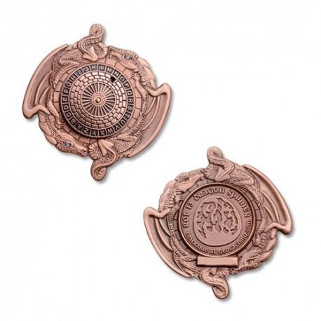 Géocoin Dragon Spinner ROT13 - Antique Copper