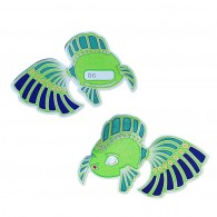 Dream Fish Geocoin - Green/Blue