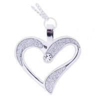 Eternal Love Geocoin Collier - Argent