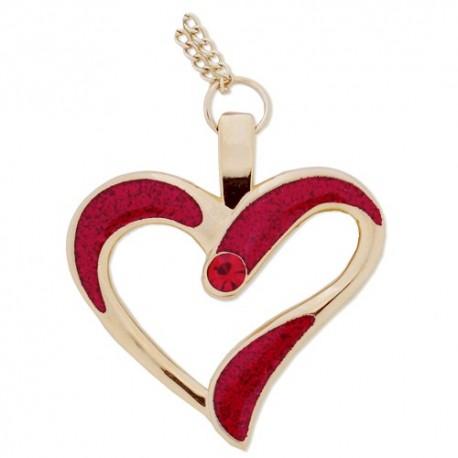Eternal Love Geocoin Collier - Rouge/Or