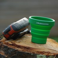 Gobelet de poche I love Geocaching - Lot de 2
