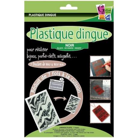Plastique dingue noir - Pochette 7 feuilles