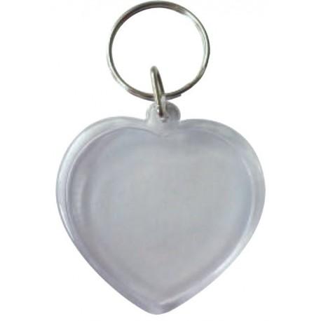 Porte-clés transparent - Coeur
