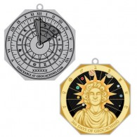 Leap Year Sundial Travel Tag