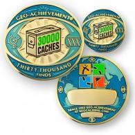 Geo Achievement® 30000 Finds + Pin's + Ecrin