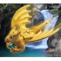 Flying Guardian Dragon - Fine Gold