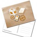 """Carte Postale """"Sur le sable"""""""