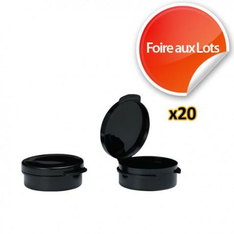 Micro Pastille Noire 4,6cm - Lot de 20