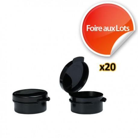 Micro Pastille Noire 3,6cm - Lot de 20