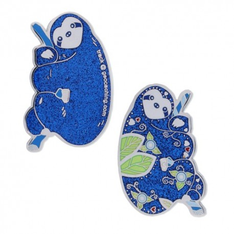 The Sloth Geocoin - Blue