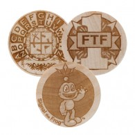 Wooden Nickel SWAG Coin x3