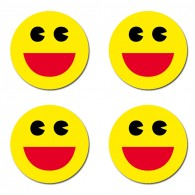 Stickers Smiley Found it Ronds - Lot de 4
