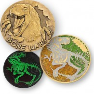 Bone Wars Geocoin - Bronze