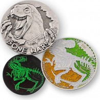 Bone Wars Geocoin - Silver