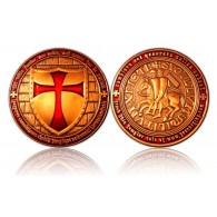 Templar Geocoin Antique Copper