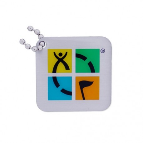 """Geocaching Logo Travel Tag """"Four Color"""""""