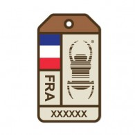 Sticker Travel Bug® Origins - France